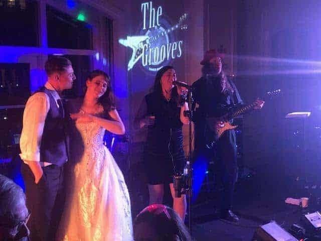 Rachel and Kirk rock out at Westin Riverwalk wedding reception