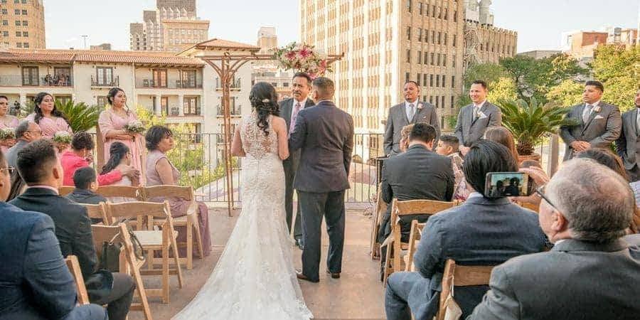 Rio Plaza's rooftop wedding venue on the Riverwalk